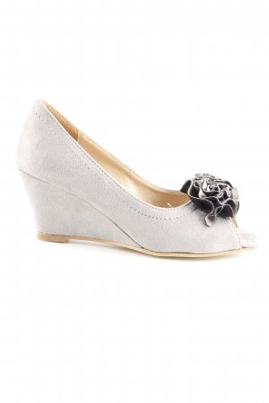 Andrea Conti Peep Toe Pumps grey elegant