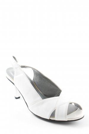 Andrea Conti Peep Toe Pumps white casual look