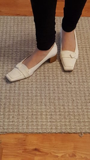 Andrea Conti Wedge Pumps white-natural white
