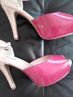 Peep Toe Pumps roze-violet