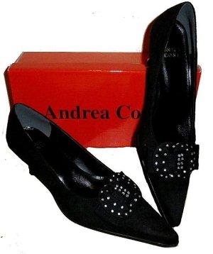 ANDREA CONTI PUMPS schwarz Velours Gr. 39 STRASS