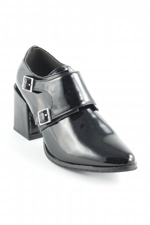 Andrea Conti Richelieus Shoes black leather-look