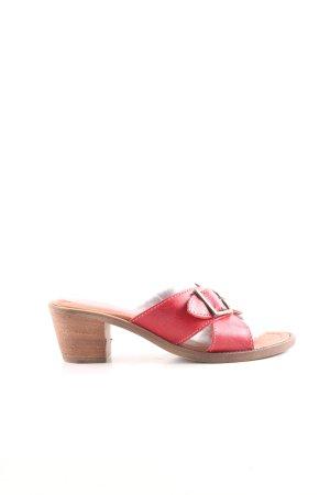 Andrea Conti Riemchen-Sandaletten rot-braun Casual-Look