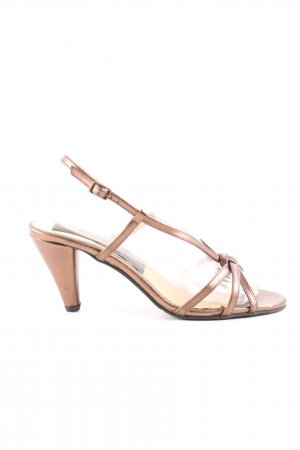 Andrea Conti Strapped High-Heeled Sandals bronze-colored casual look
