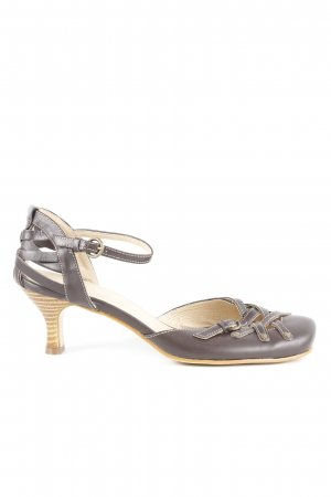 Andrea Conti Strapped High-Heeled Sandals dark brown Gypsy style