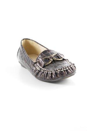 Andrea Conti Zapatos sin cordones marrón oscuro estilo extravagante