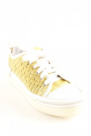 Andrea Conti Zapatilla brogue amarillo oscuro-blanco look casual