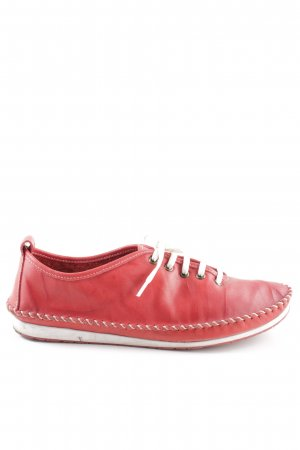 Andrea Conti Sneakers met veters rood-wit casual uitstraling