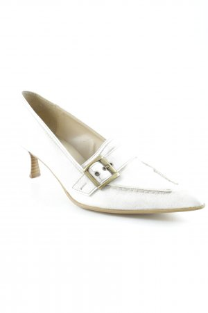 Andrea Conti Pointed Toe Pumps white-beige flecked elegant