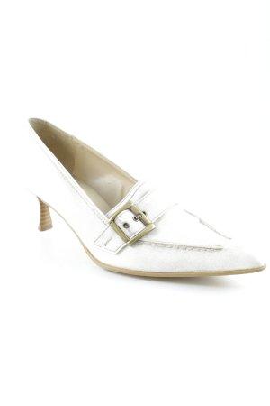Andrea Conti Zapatos de punta blanco-beige moteado elegante