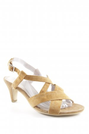 Andrea Conti High-Heeled Toe-Post Sandals brown casual look