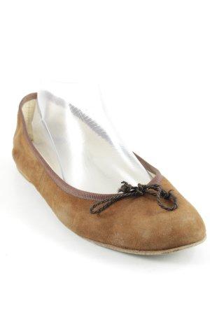 Andrea Puccini Bailarinas plegables marrón elegante