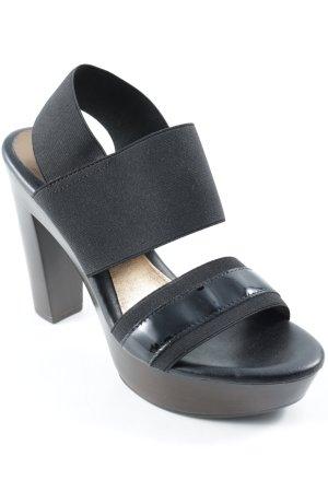 Andrea Puccini Riemchen-Sandalen schwarz-dunkelbraun Casual-Look