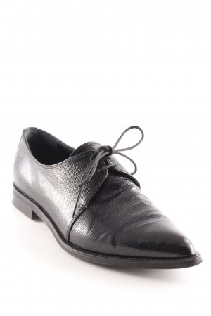Andrea Puccini Lace Shoes black elegant
