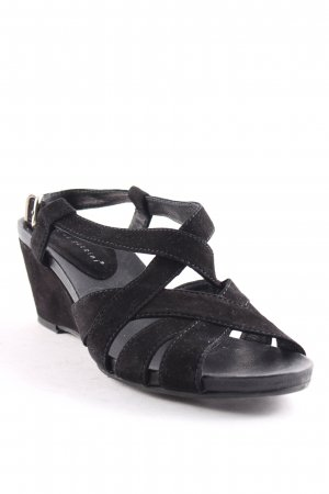 Andrea Puccini Wedge Sandals black beach look