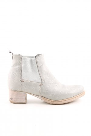 Andrea Sabatini Ankle Boots light grey allover print casual look