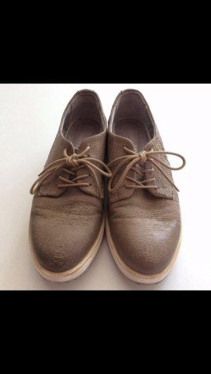 Andrea Sabatini kaum getragen Schnürschuhe in graubraun Farbe, Größe 39