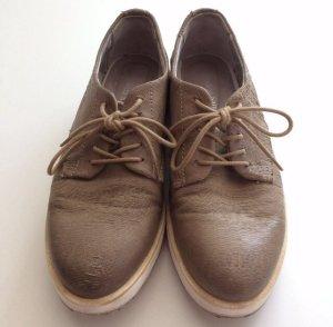 Andrea Sabatini kaum getragene Schnürschuhe in graubraun Farbe