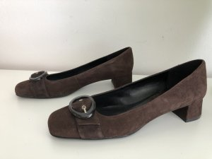 Andrea Sabatini Zapatos Mary Jane marrón oscuro Gamuza