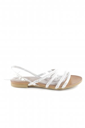 Andrea Sabatini Sandalo con cinturino argento modello web stile spiaggia