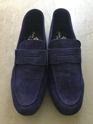 Andrea Ventura * Wildleder-Loafer * Königsblau * Gr. 41