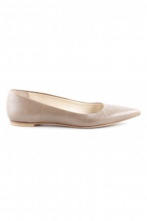 andrée Patent Leather Ballerinas light brown casual look