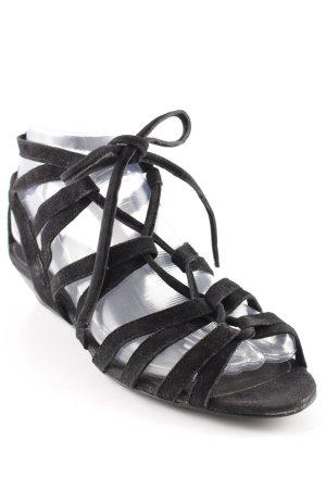 andrée Riemchen-Sandalen schwarz schlichter Stil