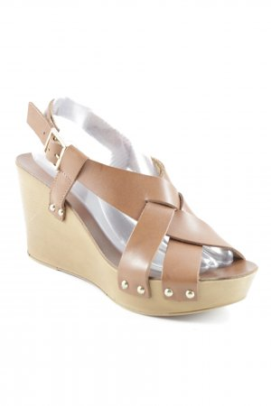 andrée Wedge Sandals multicolored casual look