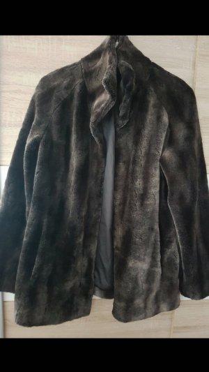 Andrew Marc New York Fake Fur Jacket dark brown