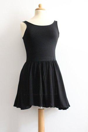 Vestido de tela de jersey negro Algodón