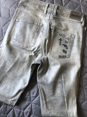 Andy Warhol by Pepe Jeans London Tube Jeans silver-colored