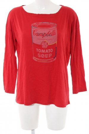 Andy Warhol by Pepe Jeans London Longsleeve red themed print casual look