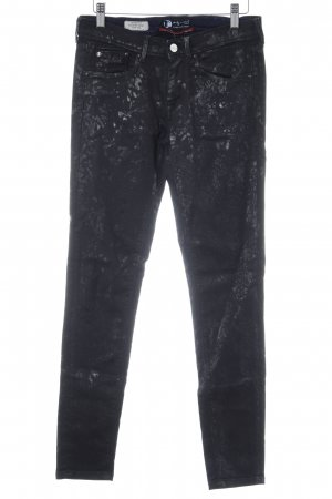 Andy Warhol by Pepe Jeans London Skinny Jeans black camouflage pattern