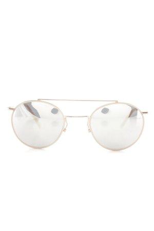 Andy Wolf Eyewear runde Sonnenbrille roségoldfarben Glanz-Optik