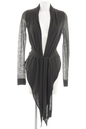 Anette Görtz Cardigan grigio chiaro-nero stile stravagante