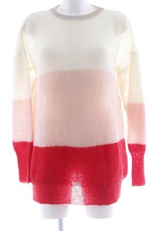 Ange Paris Jersey de cuello redondo estampado a rayas look casual