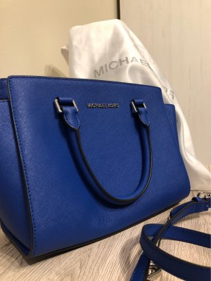 Michael Kors Bolso barrel color plata-azul