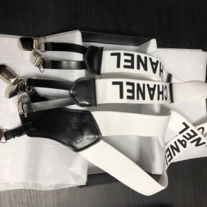 Chanel Suspenders white