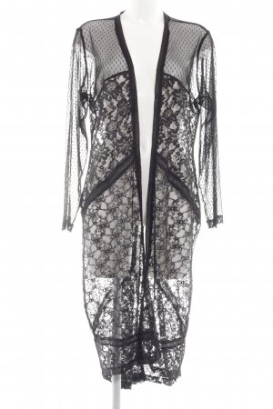 Angel of Style Cardigan nero motivo floreale elegante