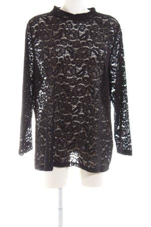 Angel of Style Longsleeve black flower pattern elegant