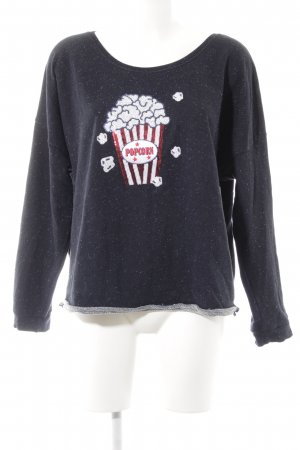 Angel of Style Crewneck Sweater spots-of-color pattern casual look