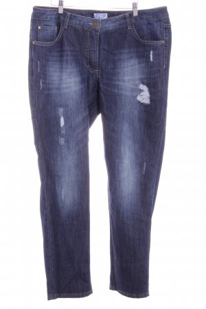 Angel of Style Slim Jeans steel blue-blue casual look