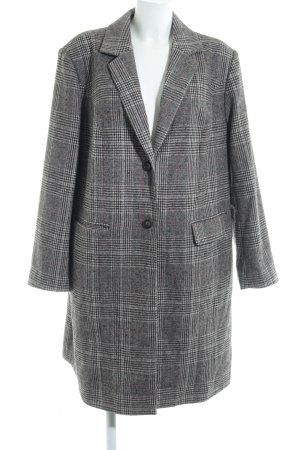 Angel of Style Wool Coat black-cream houndstooth pattern casual look