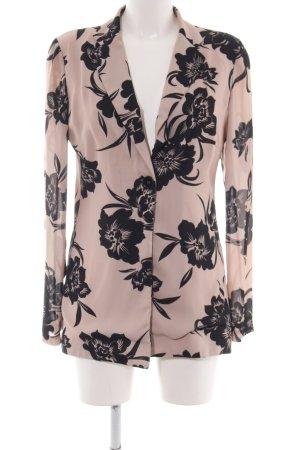 Angela Davis Cardigan pink-black flower pattern business style
