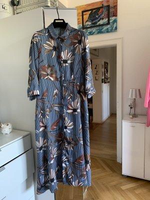 Angela Davis Hippie Maxikleid Hemdblusen Kleid floral wNeu Kaftan 38