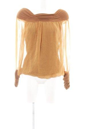 Angela Davis Blouse à manches longues orange clair élégant