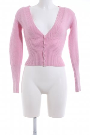 Angela Davis Veste en tricot rose style décontracté
