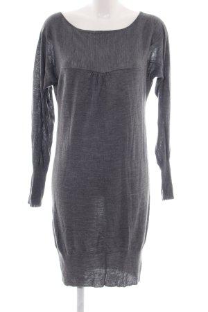 Angela Davis Knitted Dress light grey casual look