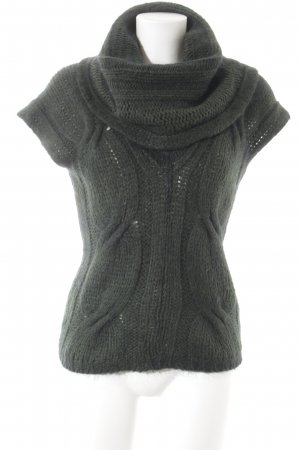 Angela Davis Knitted Poncho green-dark green flecked casual look