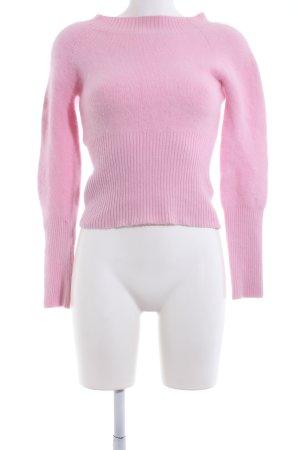 Angela Davis Pull en laine rose style décontracté